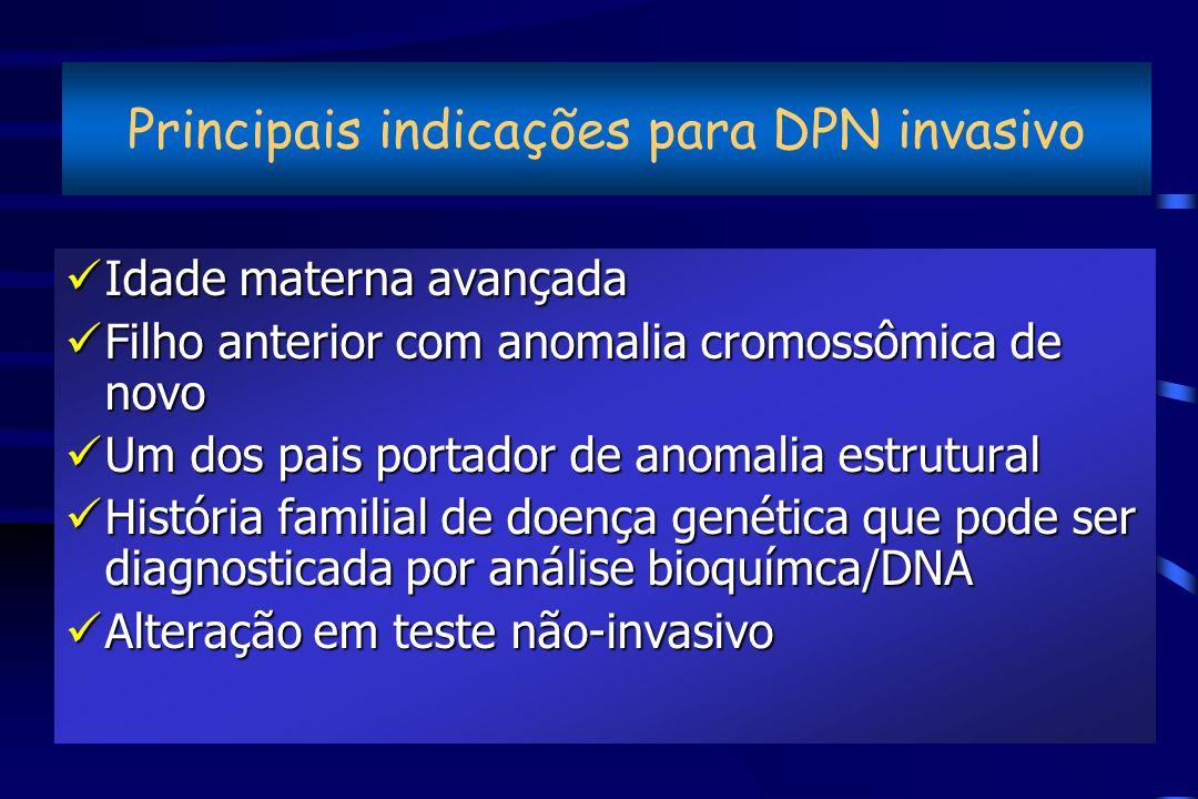 Principais indicações para DPN invasivo