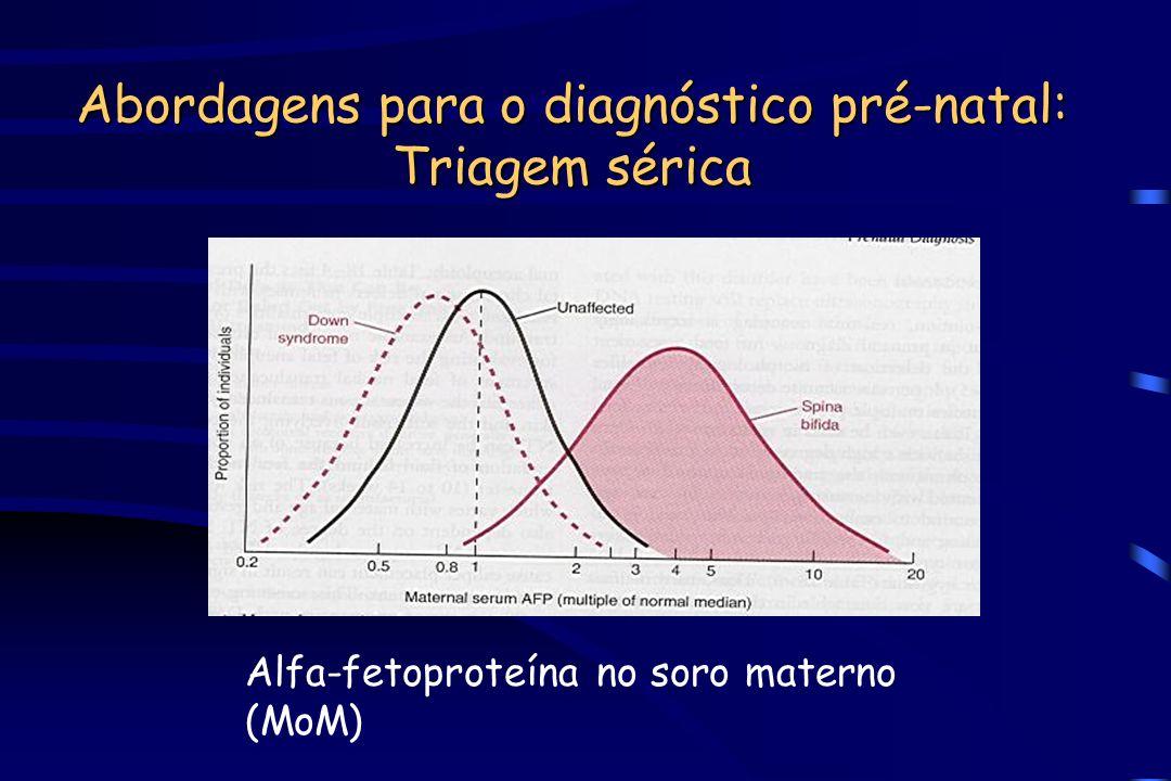 Abordagens para o diagnóstico pré-natal: Triagem sérica