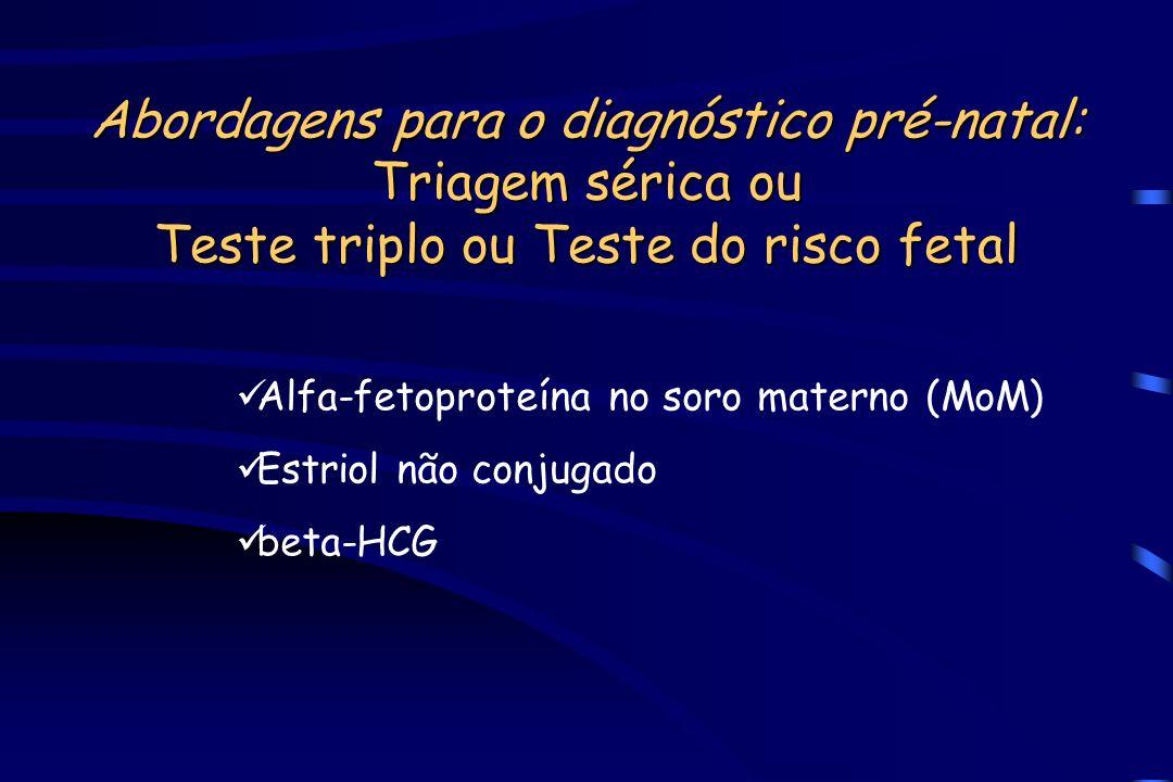 Abordagens para o diagnóstico pré-natal: Triagem sérica ou Teste triplo ou Teste do risco fetal
