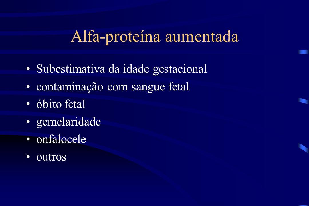 Alfa-proteína aumentada