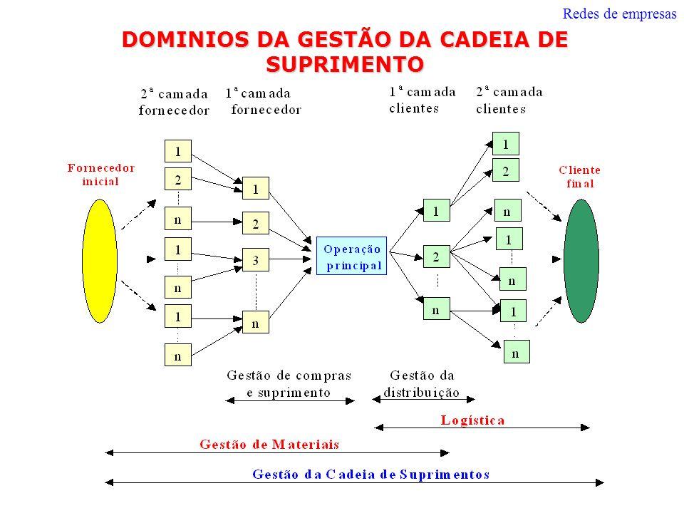 DOMINIOS DA GESTÃO DA CADEIA DE SUPRIMENTO