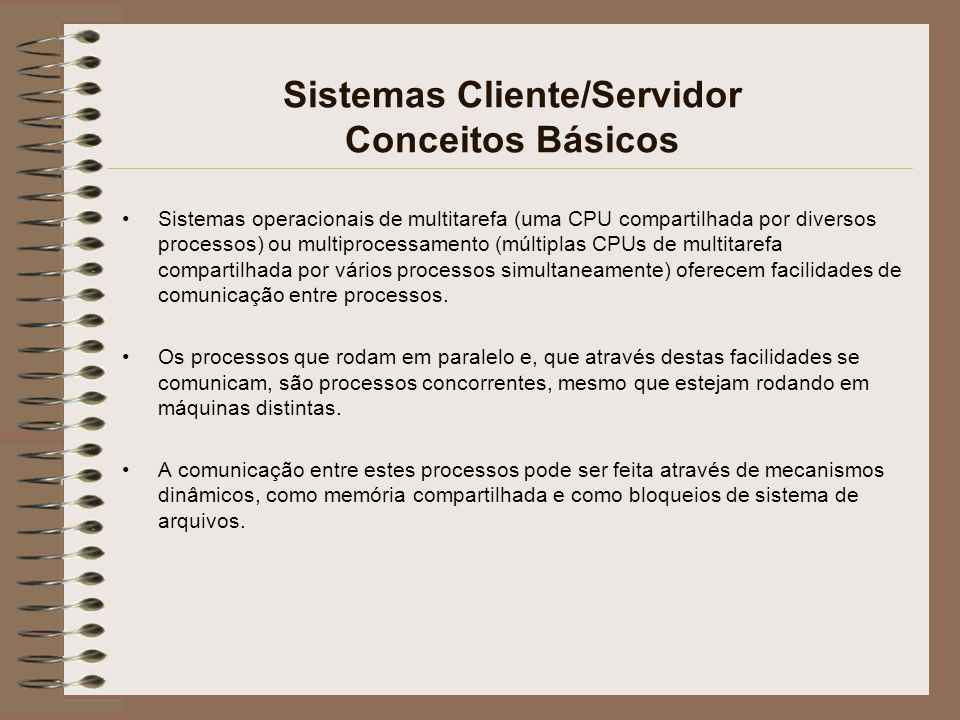 Sistemas Cliente/Servidor Conceitos Básicos