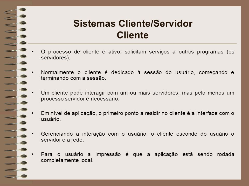 Sistemas Cliente/Servidor Cliente