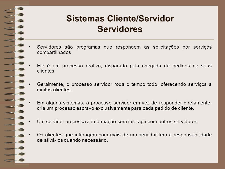 Sistemas Cliente/Servidor Servidores