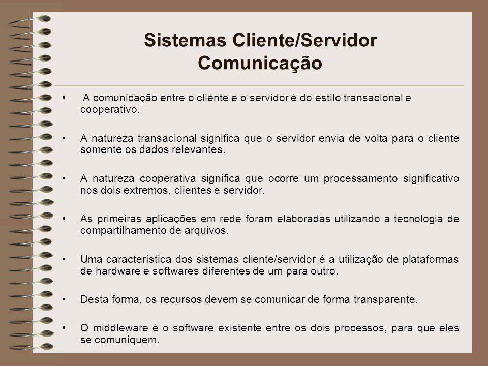 Sistemas Cliente/Servidor Comunicação