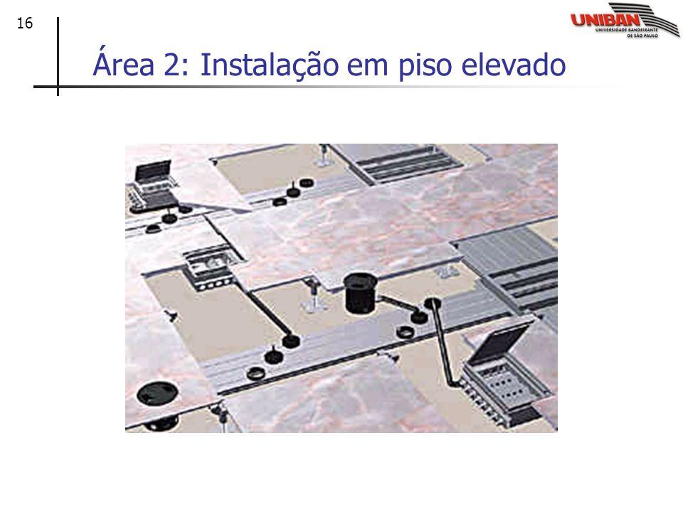Área 2: Instalação em piso elevado