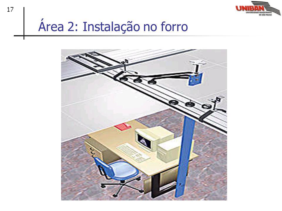 Área 2: Instalação no forro