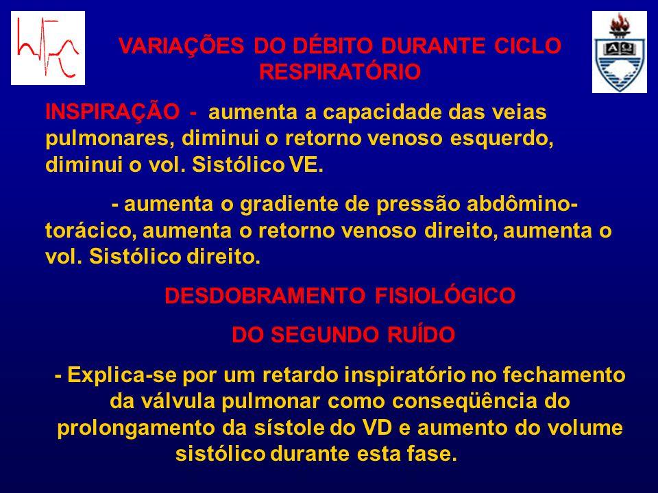 VARIAÇÕES DO DÉBITO DURANTE CICLO RESPIRATÓRIO