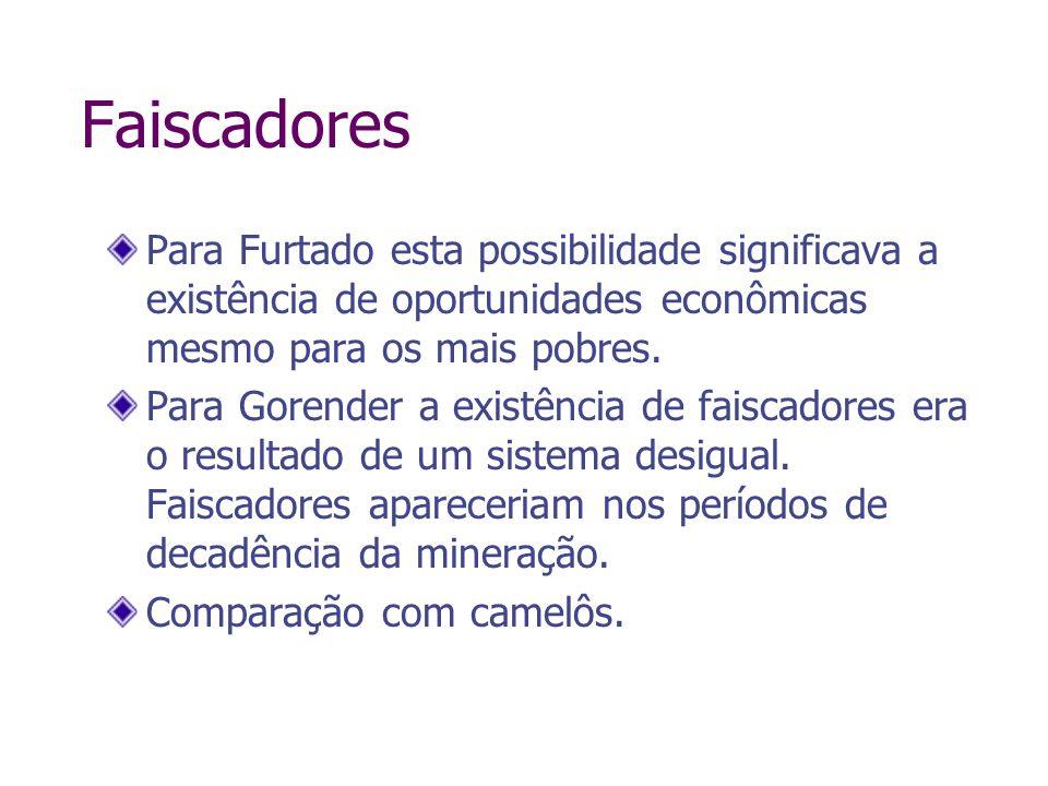 FaiscadoresPara Furtado esta possibilidade significava a existência de oportunidades econômicas mesmo para os mais pobres.