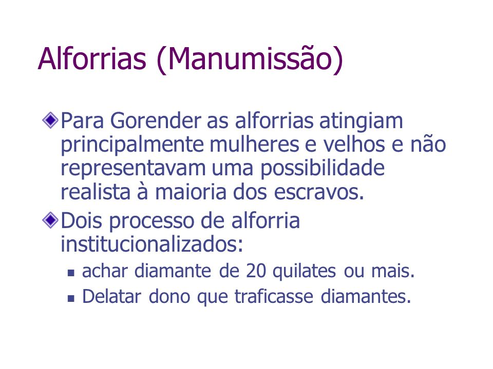 Alforrias (Manumissão)