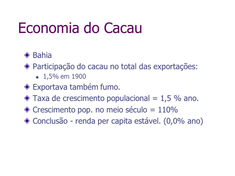 Economia do Cacau Bahia