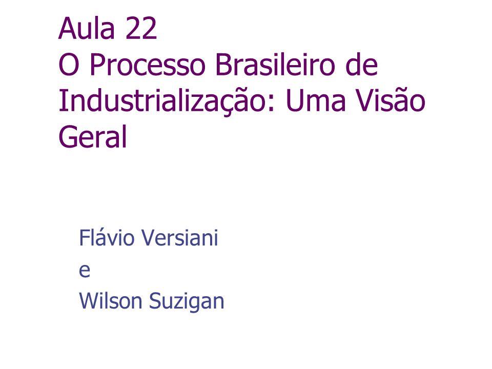 Aula 22 O Processo Brasileiro de Industrialização: Uma Visão Geral