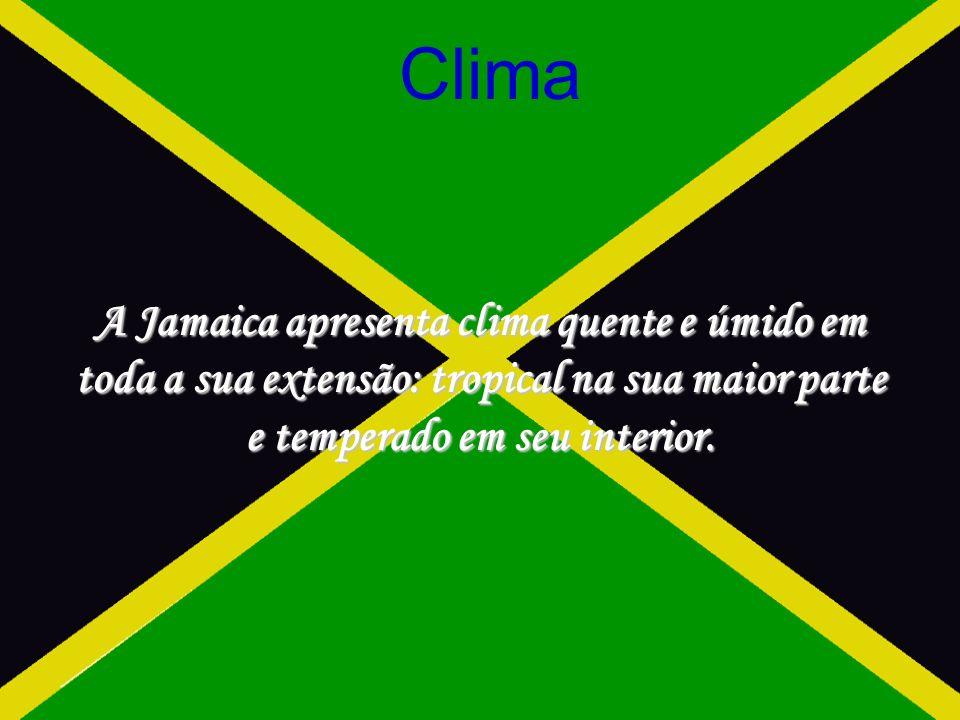 Clima A Jamaica apresenta clima quente e úmido em toda a sua extensão: tropical na sua maior parte e temperado em seu interior.