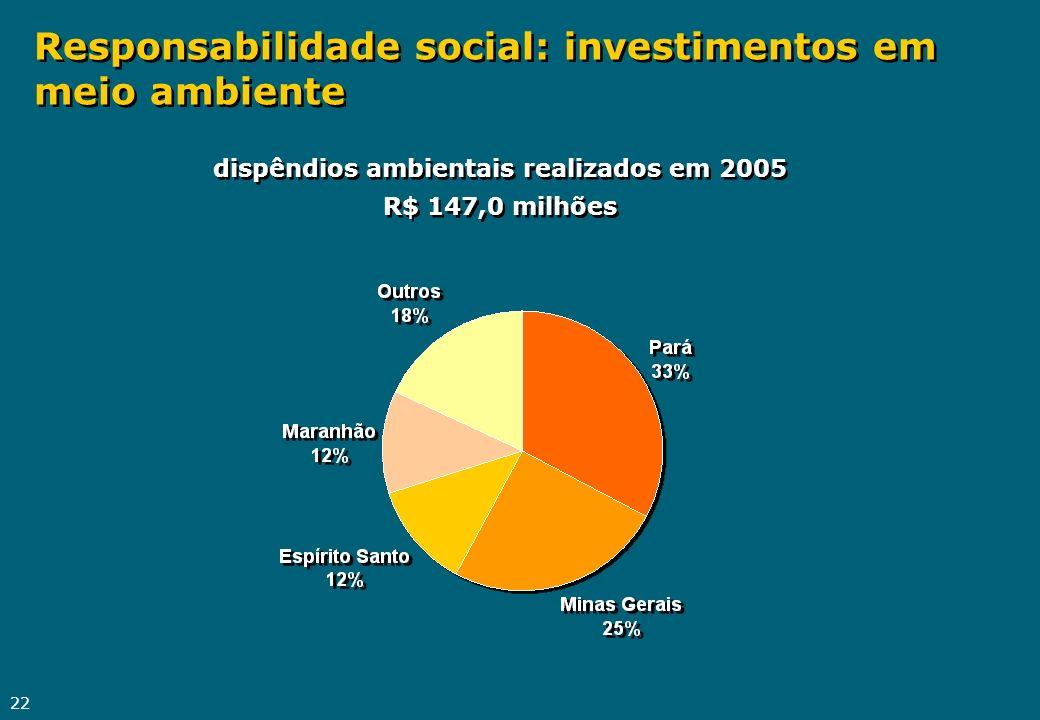 Responsabilidade social: investimentos em meio ambiente