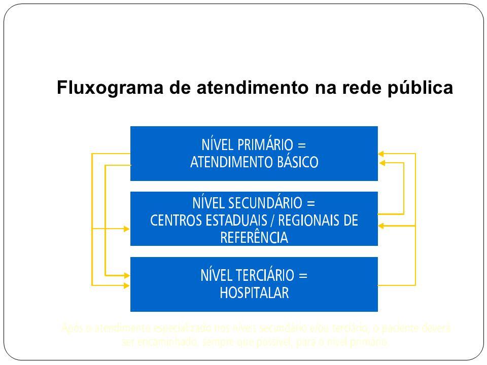Fluxograma de atendimento na rede pública