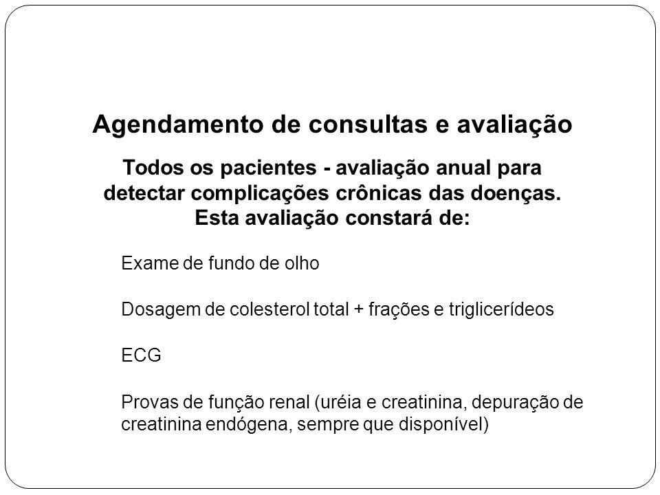 Agendamento de consultas e avaliação