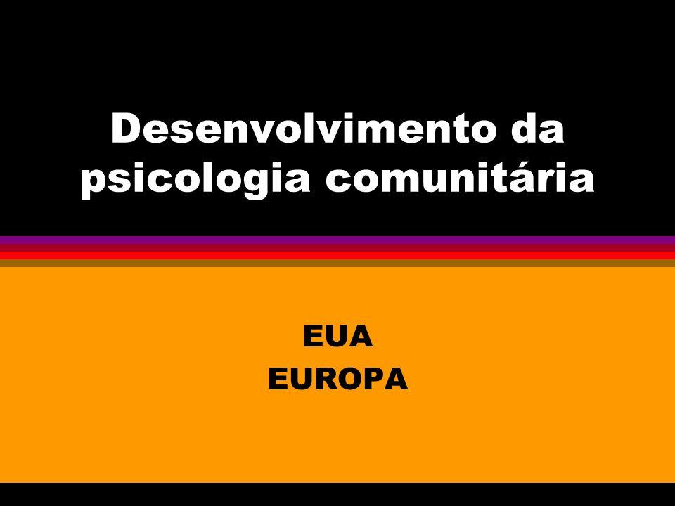 Desenvolvimento da psicologia comunitária