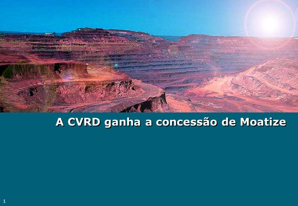 A CVRD ganha a concessão de Moatize
