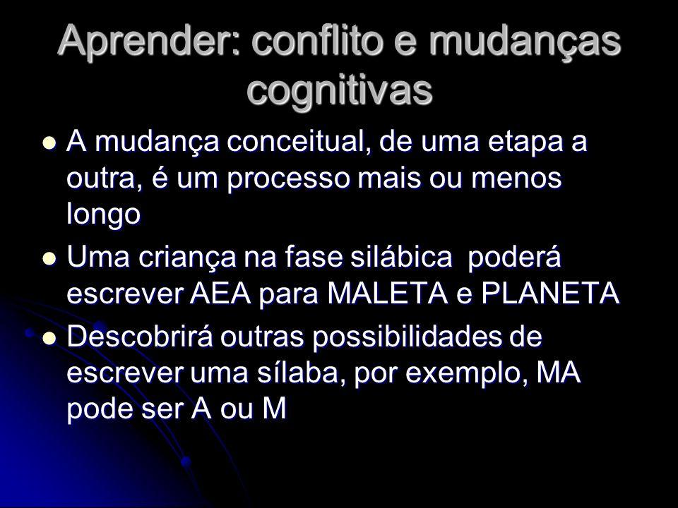 Aprender: conflito e mudanças cognitivas