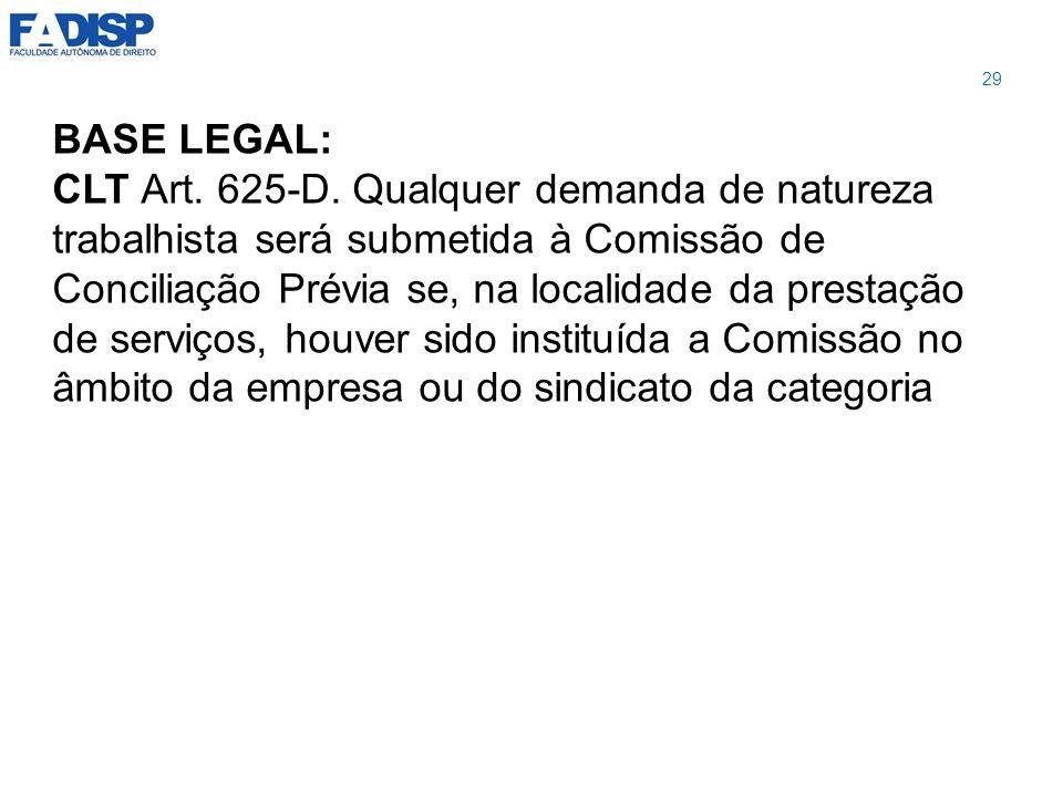 29 BASE LEGAL: