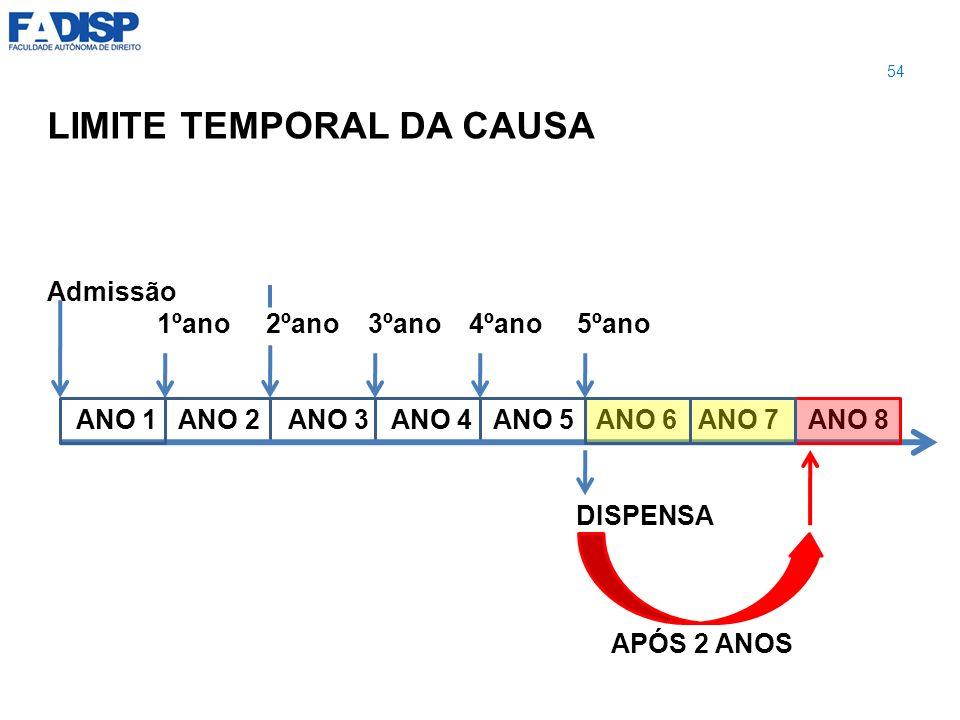 LIMITE TEMPORAL DA CAUSA