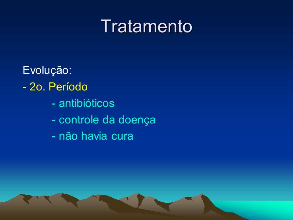 Tratamento Evolução: - 2o. Período - antibióticos - controle da doença