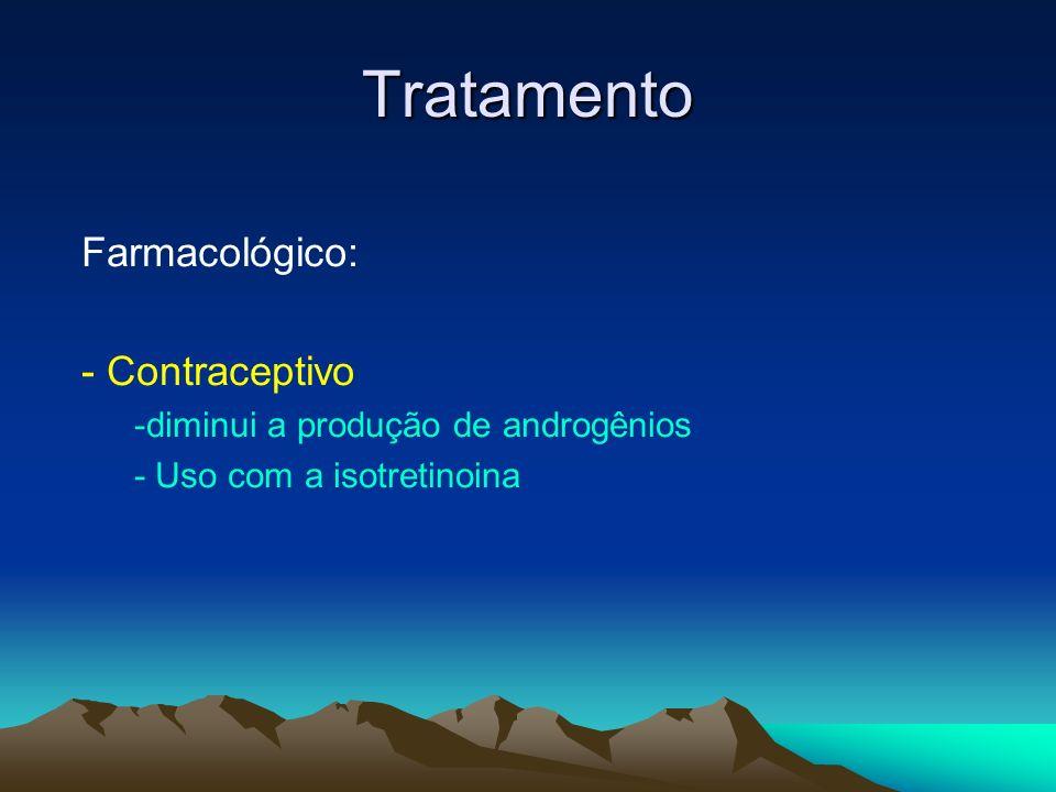 Tratamento Farmacológico: - Contraceptivo