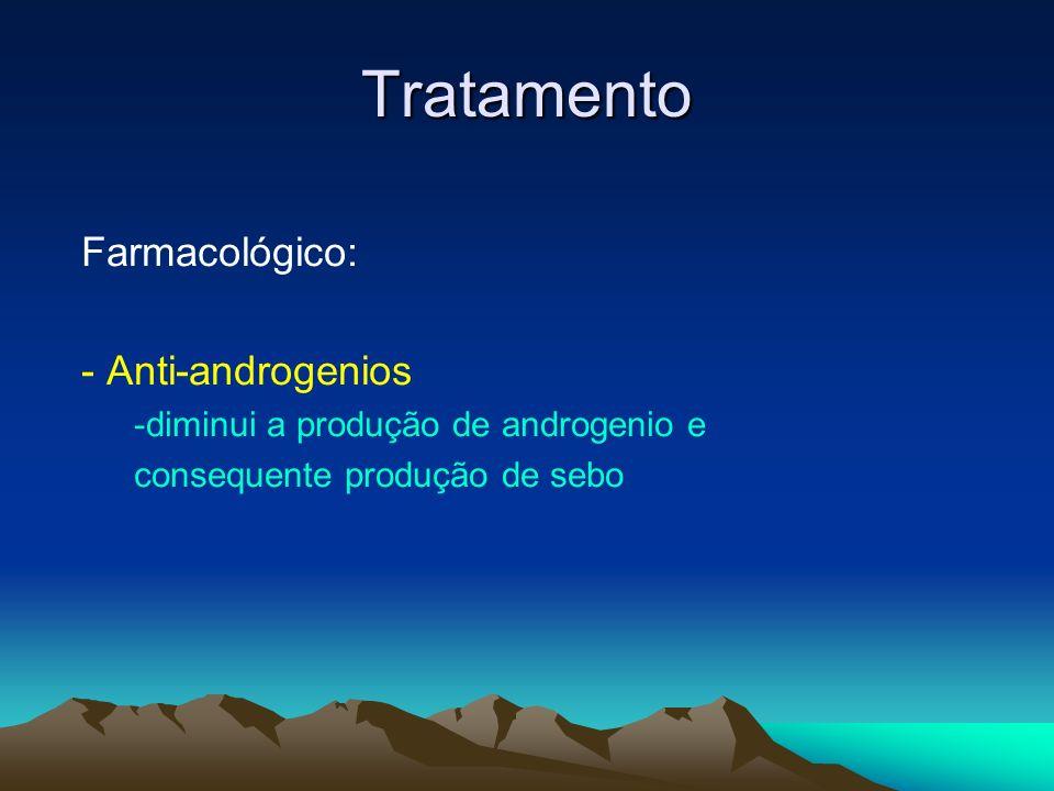 Tratamento Farmacológico: - Anti-androgenios