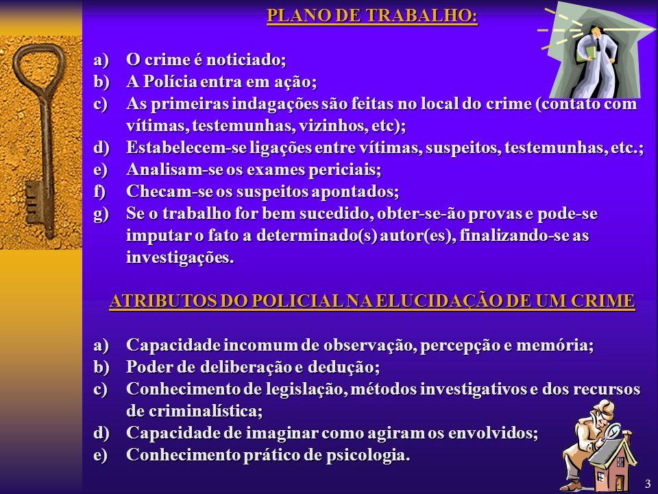 ATRIBUTOS DO POLICIAL NA ELUCIDAÇÃO DE UM CRIME