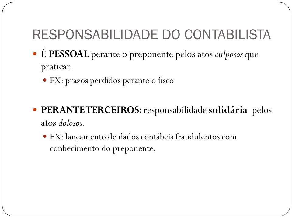 RESPONSABILIDADE DO CONTABILISTA
