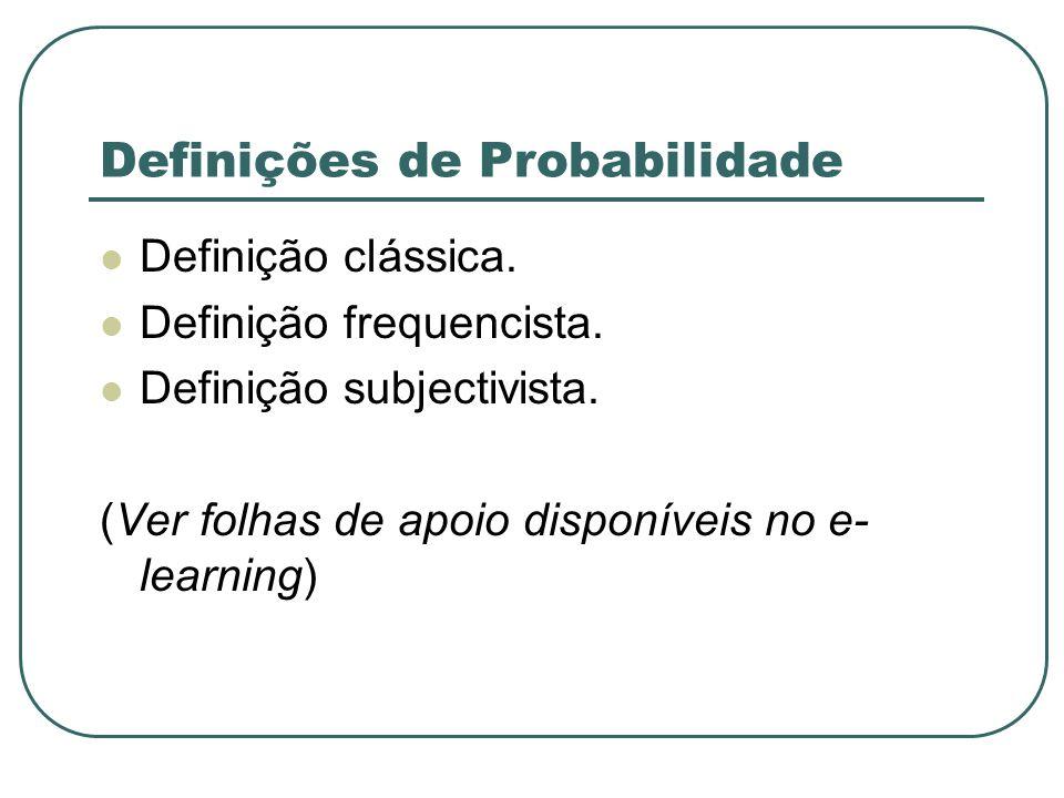 Definições de Probabilidade