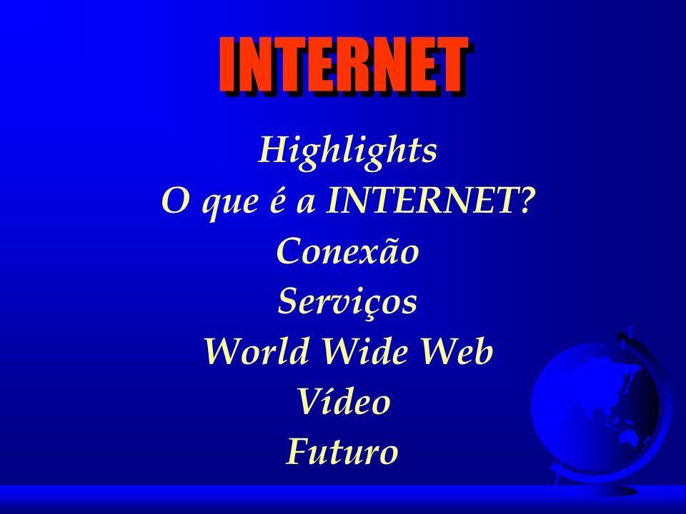 INTERNET Highlights O que é a INTERNET Conexão Serviços