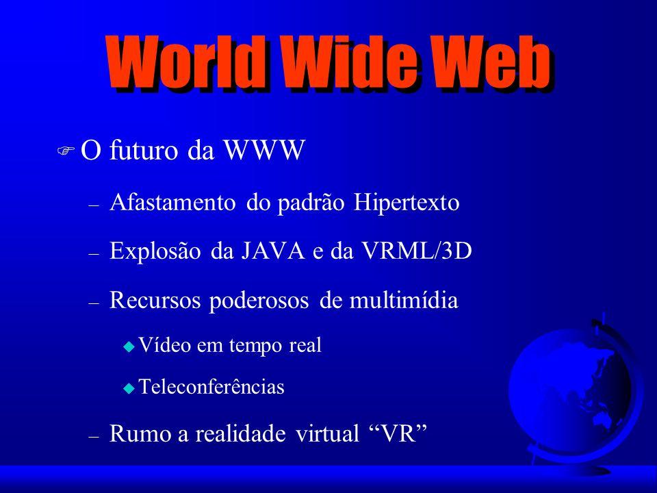 World Wide Web O futuro da WWW Afastamento do padrão Hipertexto