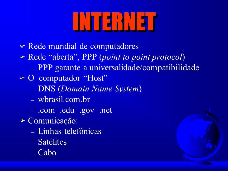 INTERNET Rede mundial de computadores