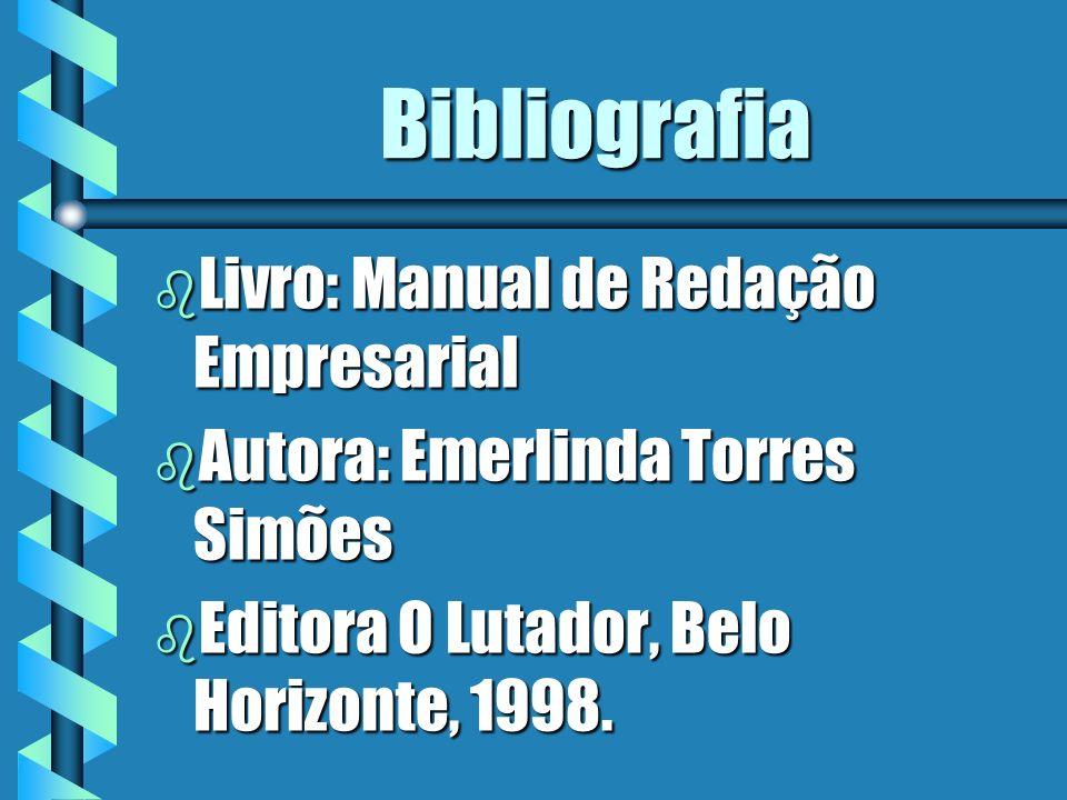Bibliografia Livro: Manual de Redação Empresarial