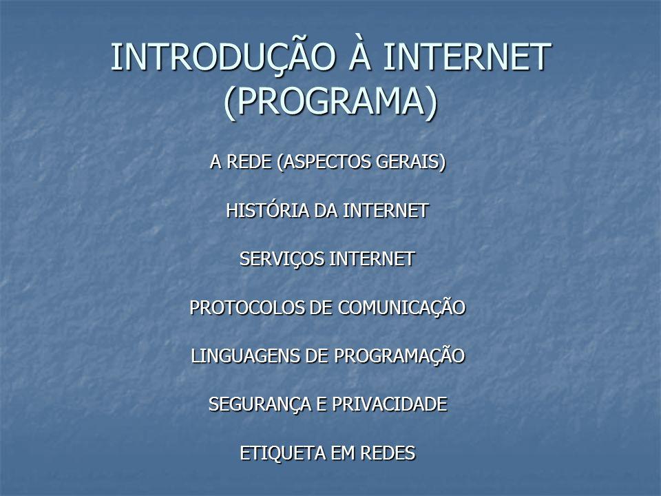 INTRODUÇÃO À INTERNET (PROGRAMA)