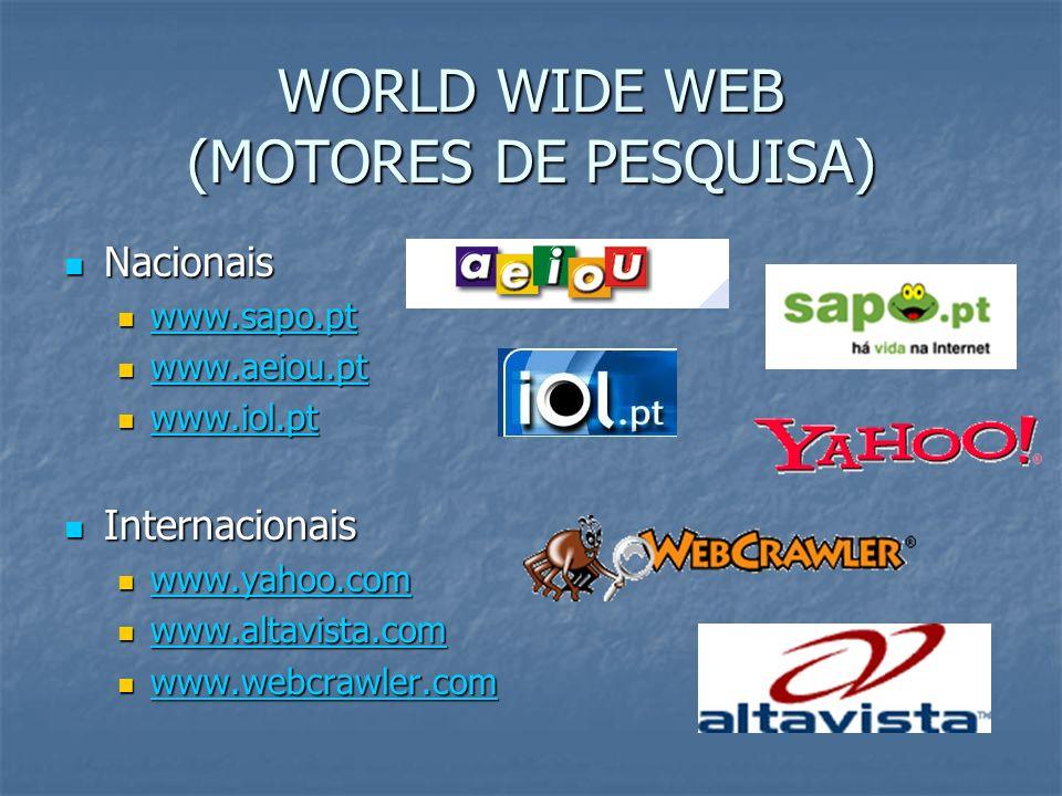WORLD WIDE WEB (MOTORES DE PESQUISA)