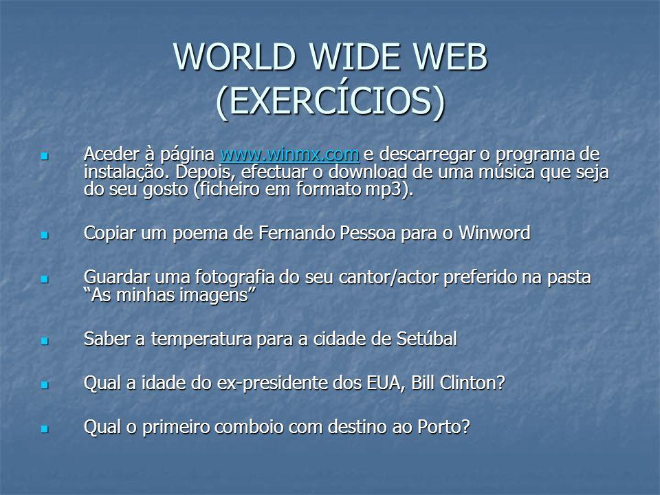 WORLD WIDE WEB (EXERCÍCIOS)