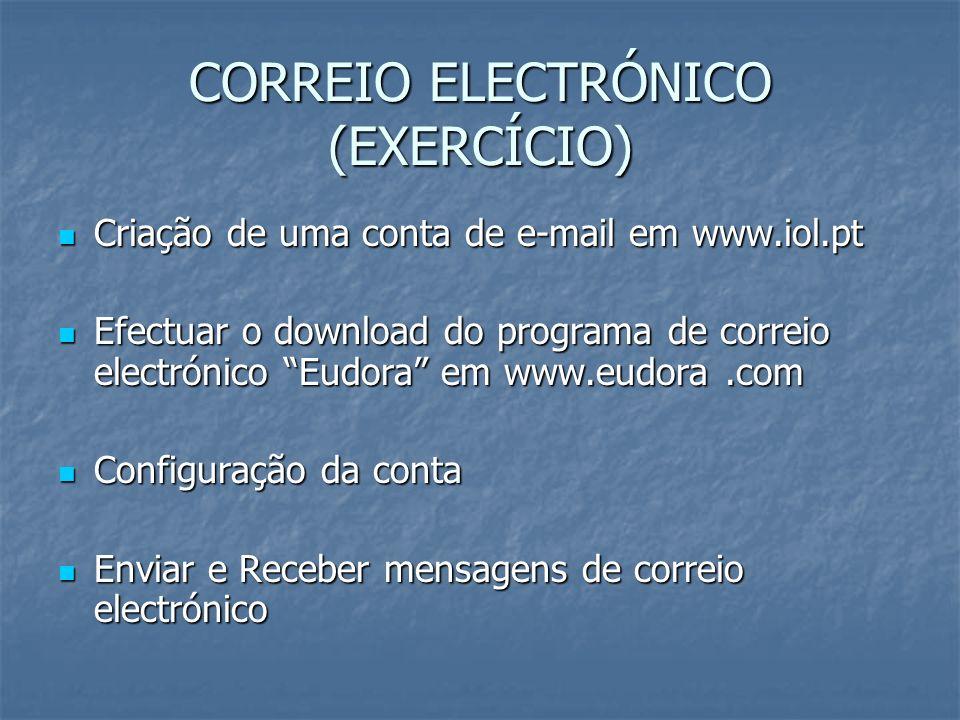 CORREIO ELECTRÓNICO (EXERCÍCIO)