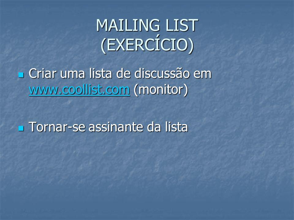 MAILING LIST (EXERCÍCIO)