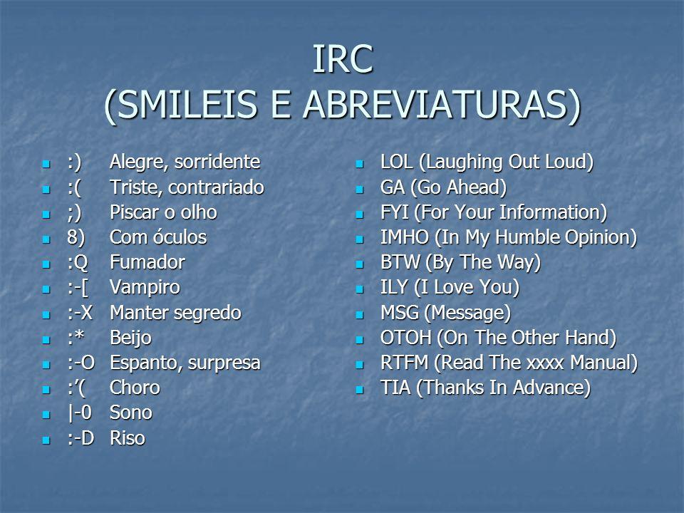 IRC (SMILEIS E ABREVIATURAS)