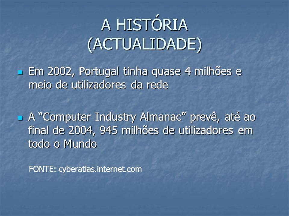A HISTÓRIA (ACTUALIDADE)