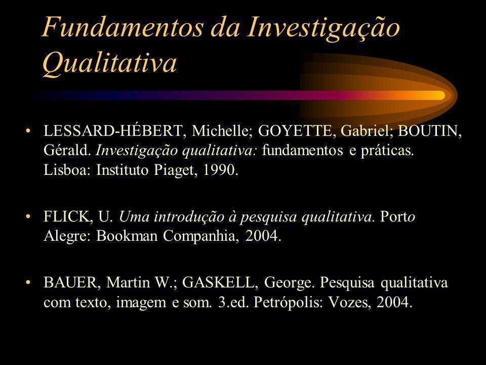 Fundamentos da Investigação Qualitativa