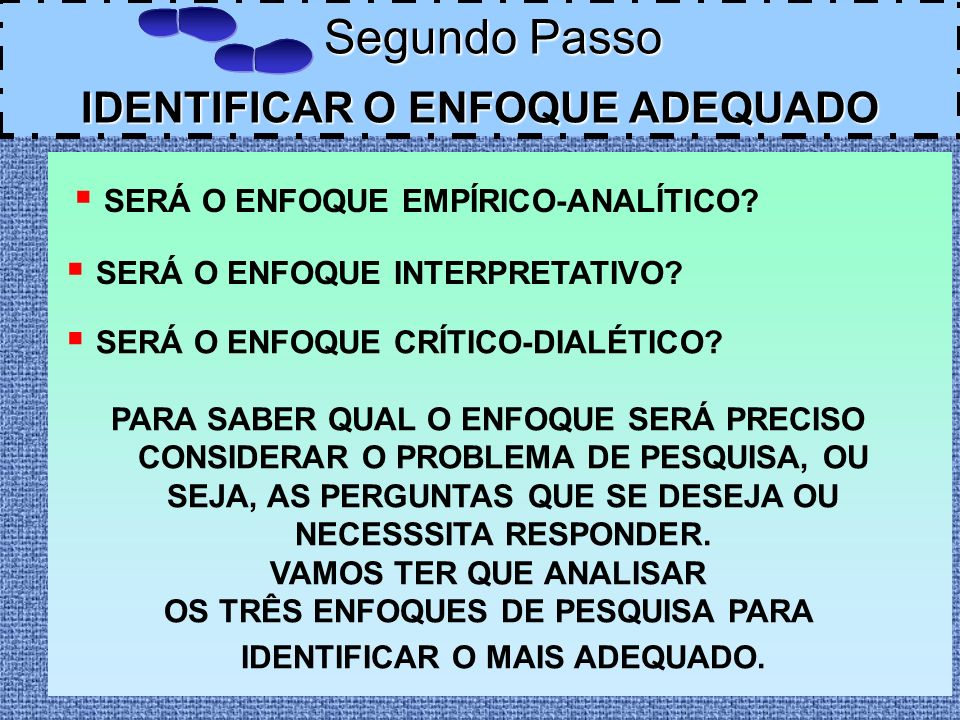 IDENTIFICAR O ENFOQUE ADEQUADO