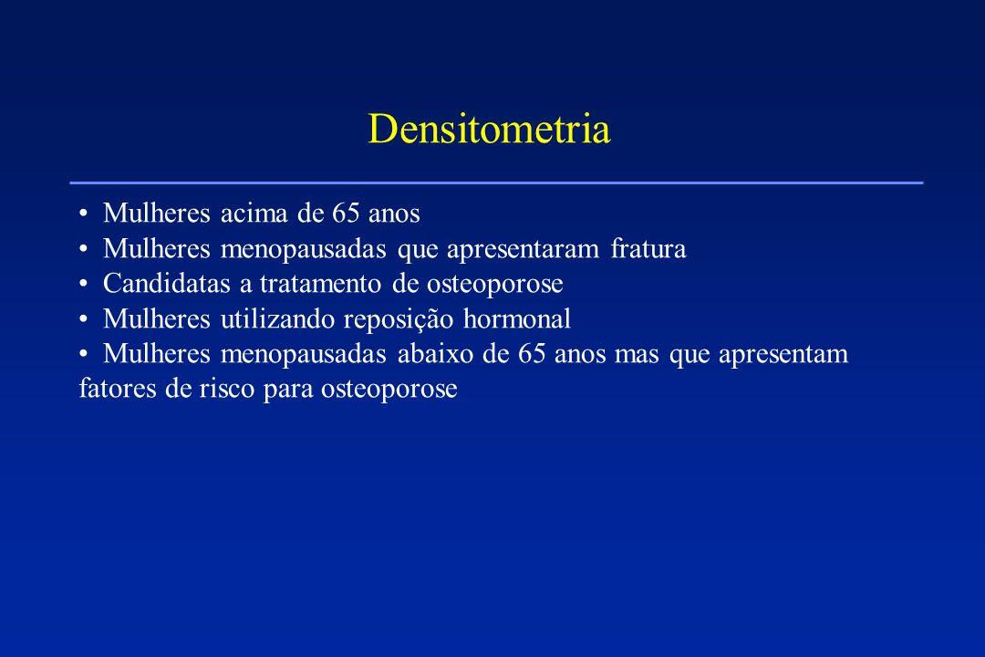 Densitometria Mulheres acima de 65 anos