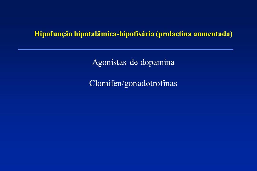 Hipofunção hipotalâmica-hipofisária (prolactina aumentada)