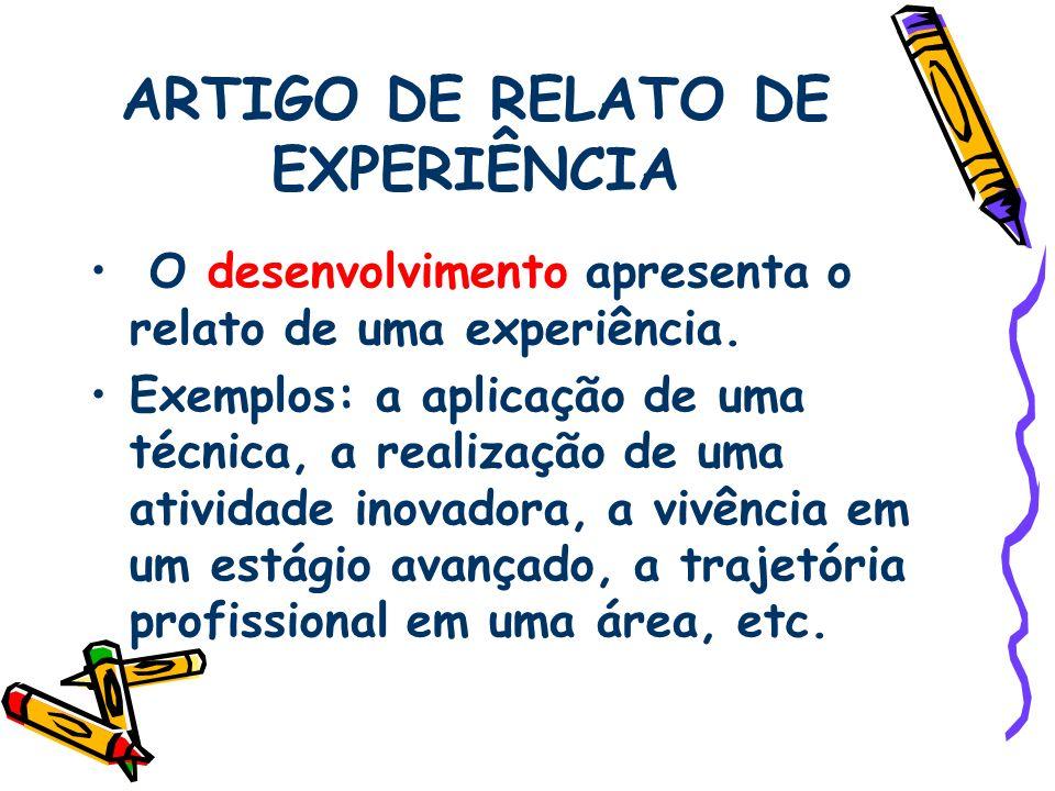 ARTIGO DE RELATO DE EXPERIÊNCIA