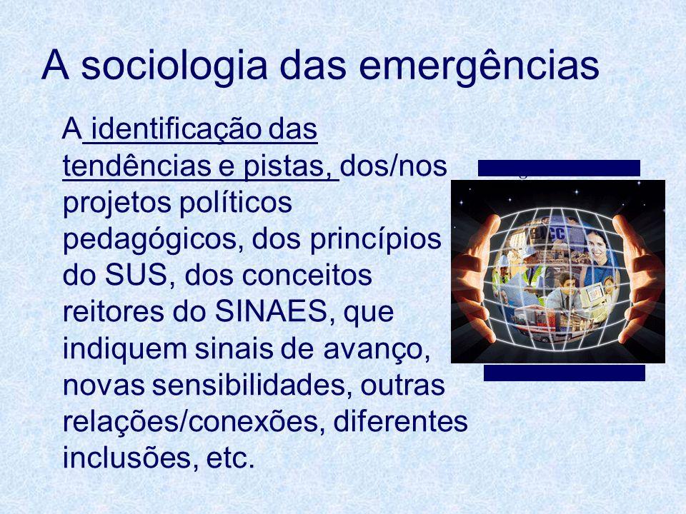 A sociologia das emergências