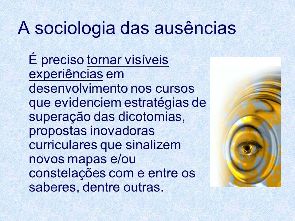 A sociologia das ausências