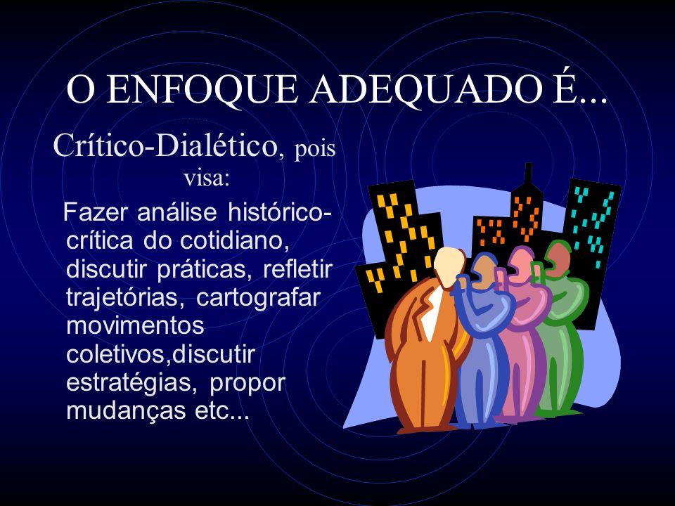 Crítico-Dialético, pois visa: